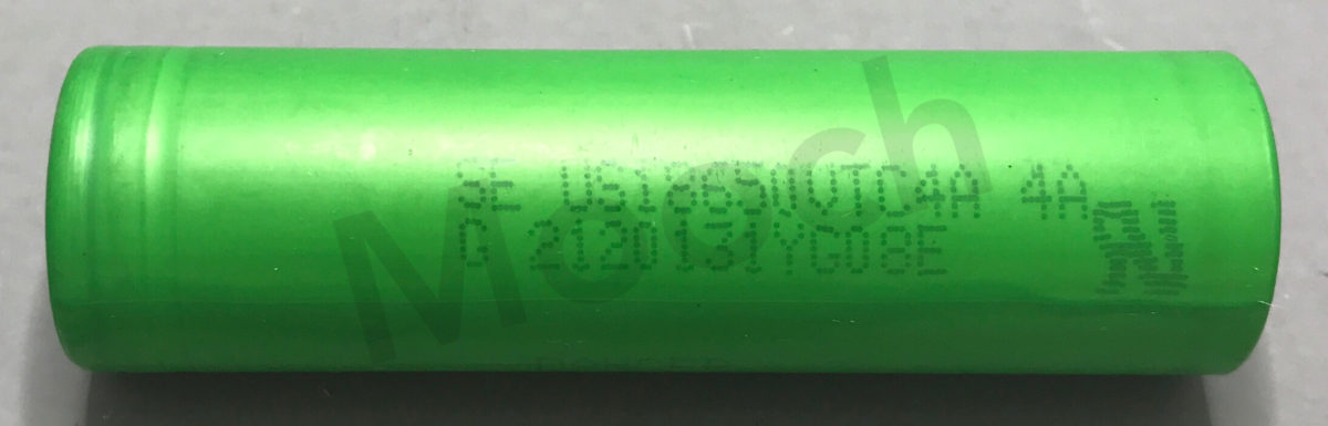 Sony VTC6A 18650 estimated 2900-3000mAh, 20-25A