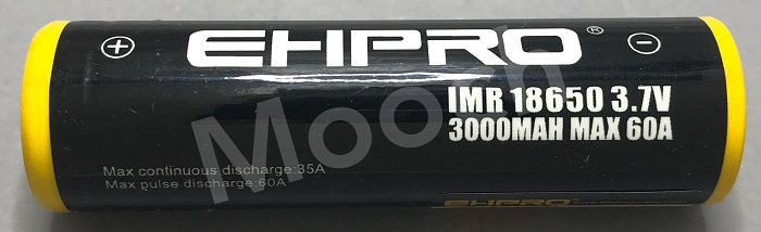 EHPRO/Bootes Yellow-Black 3000mAh 60A 18650 Battery