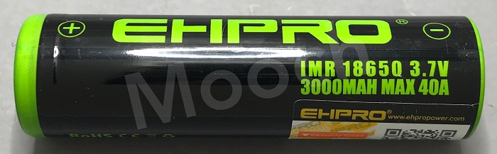 EHPRO Green-Black 3000mAh 40A 18650 Battery