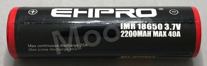 EHPRO Red-Black 2200mAh 40A 18650 Battery